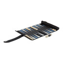 Smythson Black Panama Travel Backgammon Roll
