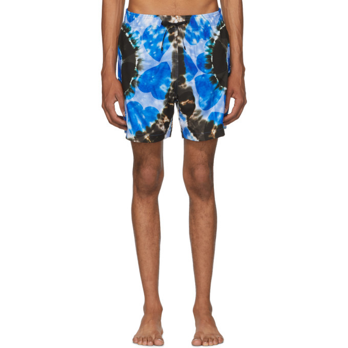 Photo: Amiri Blue Hearts Tie-Dye Swim Shorts