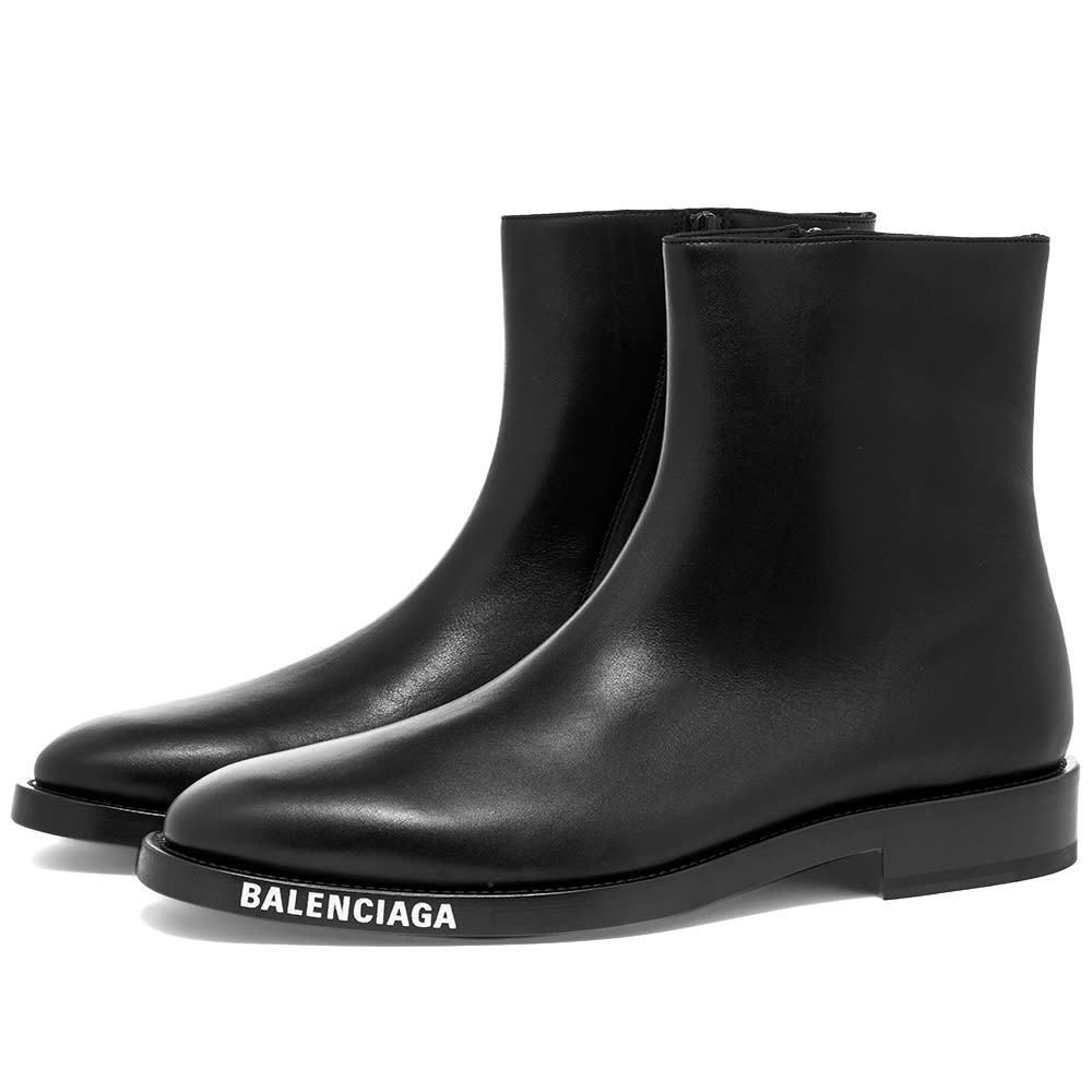 Photo: Balenciaga Logo Sole Chelsea Boot