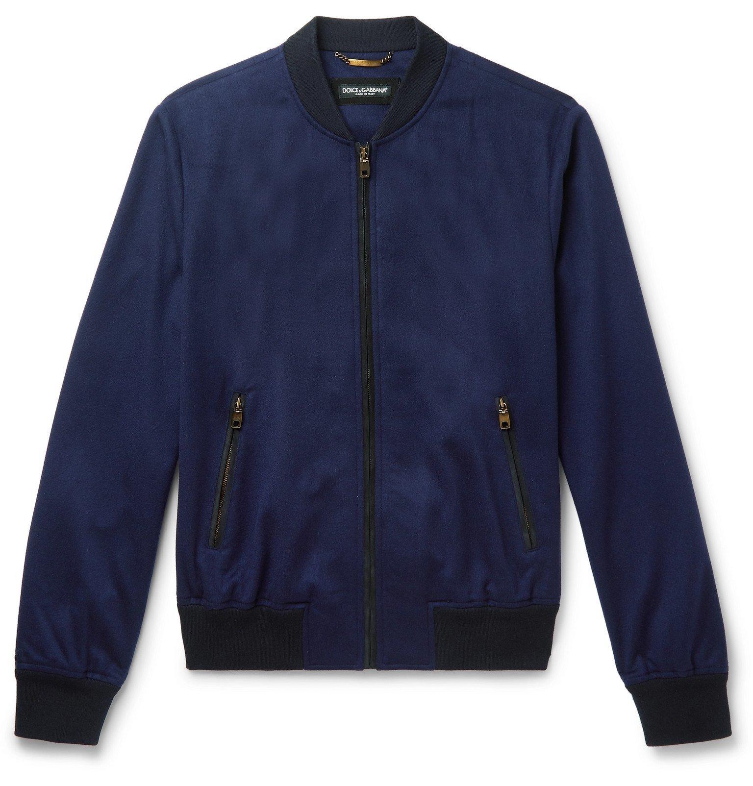 Photo: Dolce & Gabbana - Cashmere Bomber Jacket - Blue