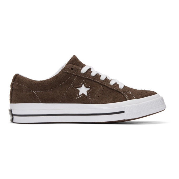 Photo: Converse Brown Suede One Star Sneakers