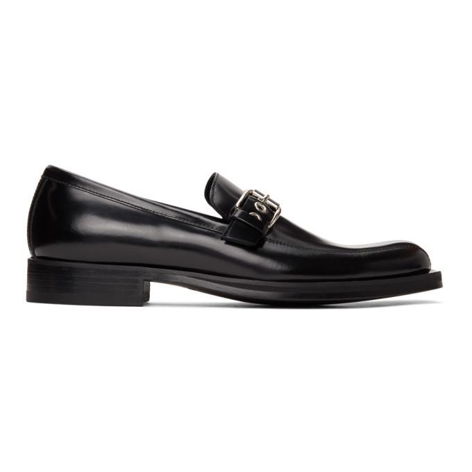 Photo: Versace Black Buckle Loafers