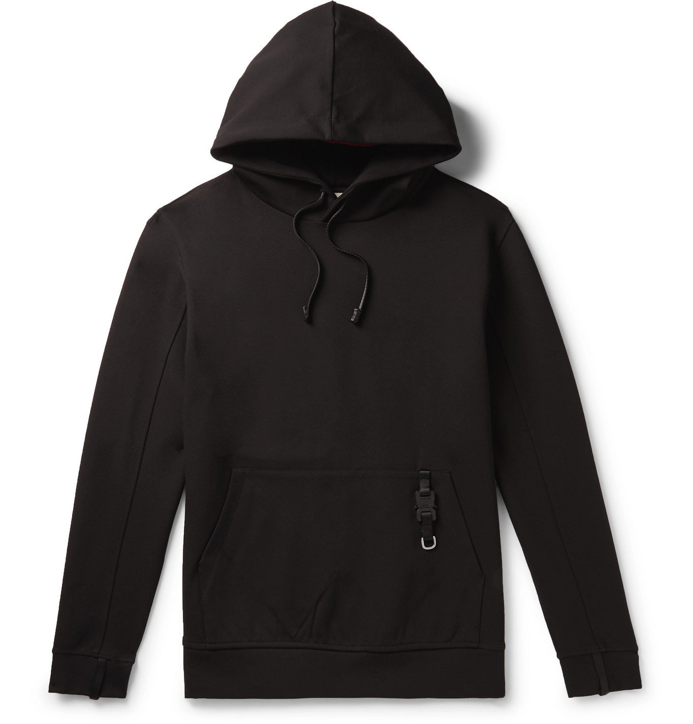 1017 ALYX 9SM - Buckle-Detailed Neoprene Hoodie - Black