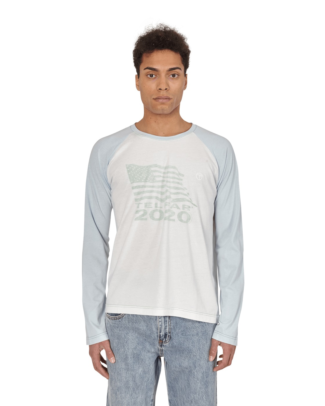 Photo: Telfar 2020 Long Sleeve T Shirt Baby Blue