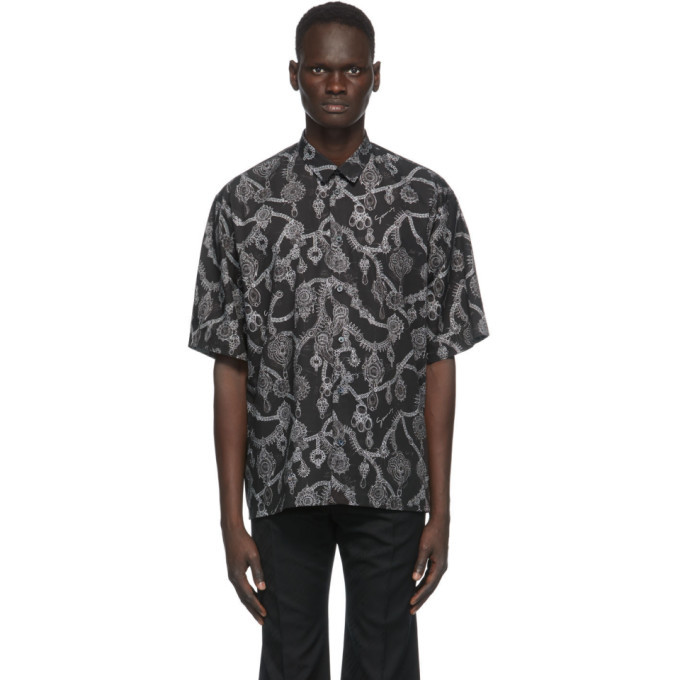 Photo: Givenchy Black Jewelry Print Loose Fit Shirt