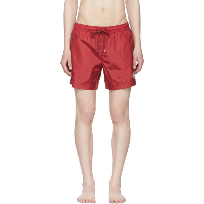 Photo: Moncler Red Small Logo Swim Shorts