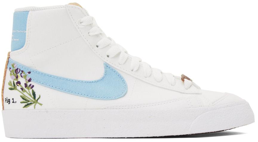 Photo: Nike White & Blue 'Indigo' Blazer Mid '77 SE Sneakers