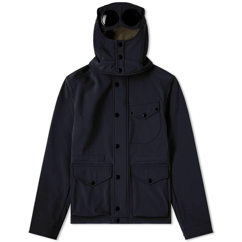 C.P. Company Hooded 3 Pocket Goggle Jacket Navy & Olive