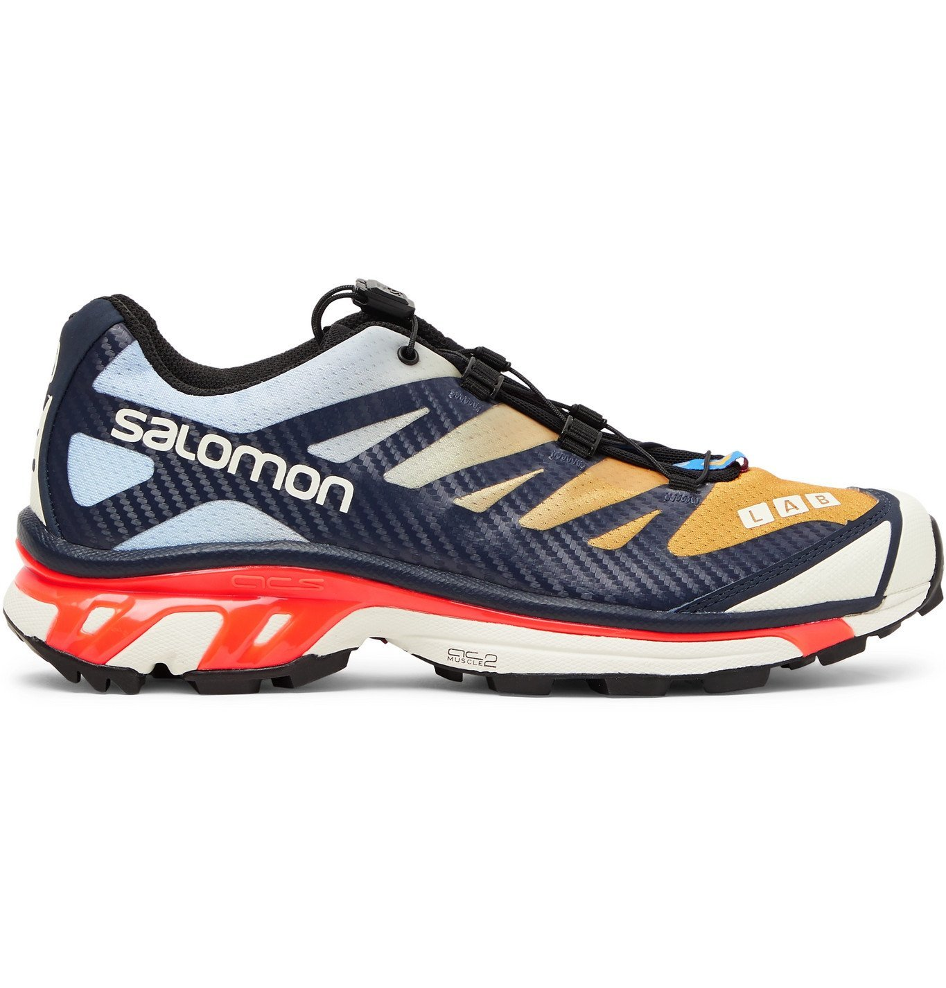 Photo: Salomon - XT-4 Advanced Rubber-Trimmed Coated Mesh Running Sneakers - Multi