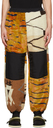 Aries Orange & Off-White Fleece Abstract Lounge Pants