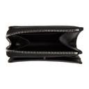 Smythson Black Zip Around Bifold Wallet