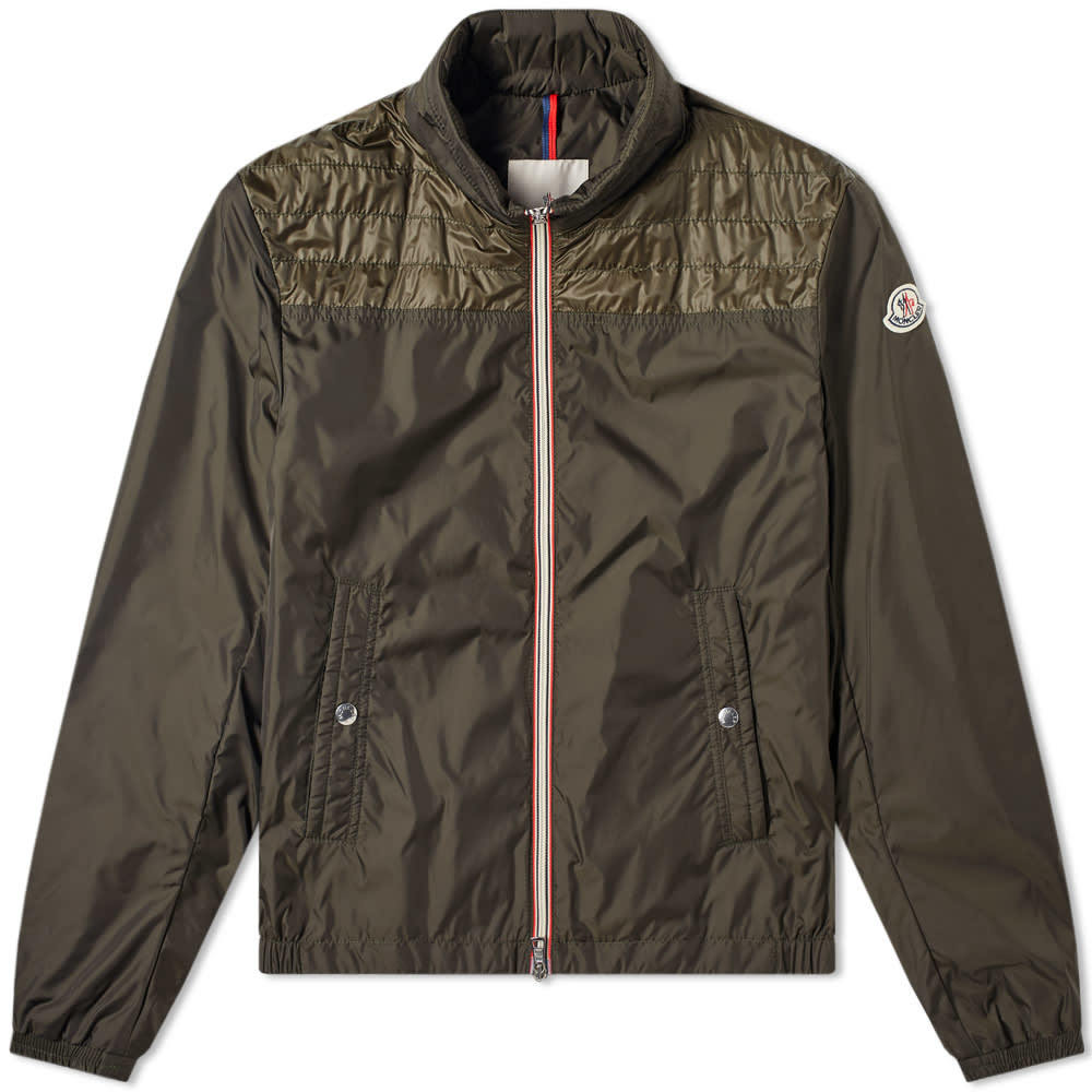 Photo: Moncler Portneuf Nylon and Down Zip Jacket Green