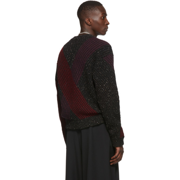 Lemaire Multicolor Jacquard V-Neck Sweater
