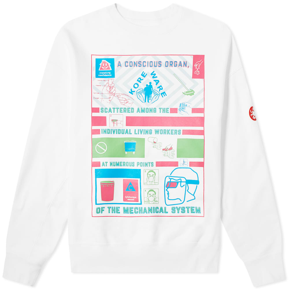 Photo: Cav Empt Conscious Organ Crew Sweat White