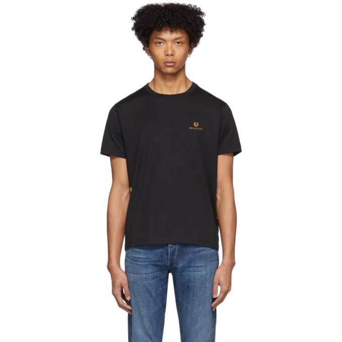 Photo: Belstaff Black Embroidered Logo T-Shirt