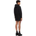 Sacai Black Sponge Short Hooded Dress
