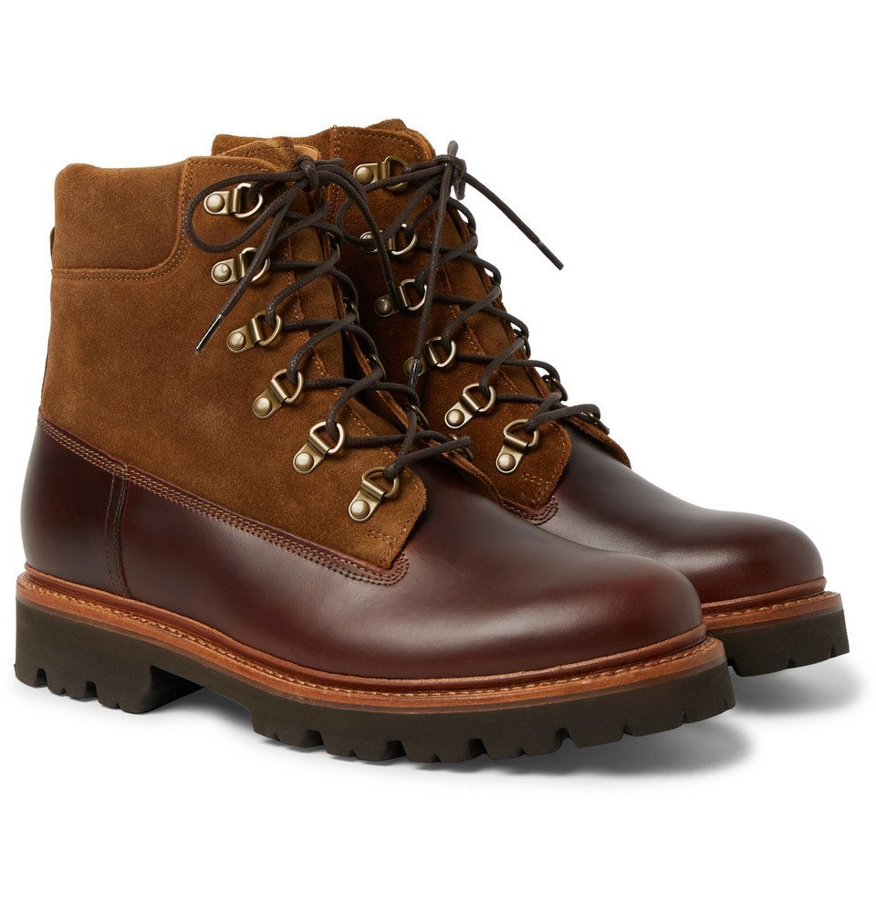 Photo: Grenson - Rutherford Leather and Suede Boots - Brown