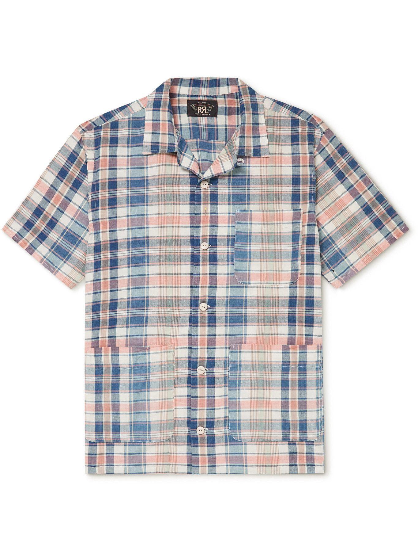 Photo: RRL - Wayne Slim-Fit Checked Cotton Shirt - Blue