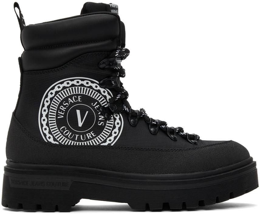 Photo: Versace Jeans Couture Black Syrius V-Emblem Boots