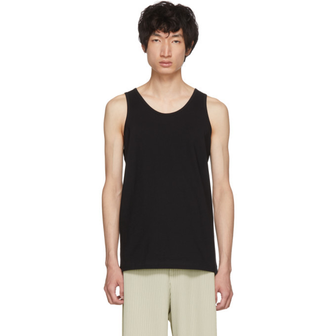 Photo: Comme des Garcons Shirt Black Plain Fine Jersey Tank Top