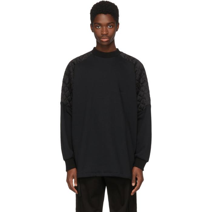 Photo: Versace Black Oversize Quilted Shoulders Sweatshirt