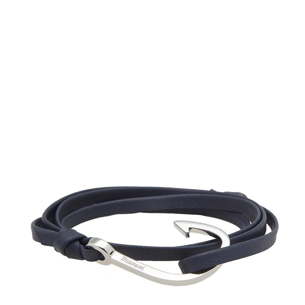Photo: Miansai Silver Hook Leather Bracelet