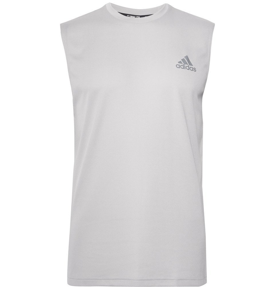 Photo: Adidas Sport - Essentials Climalite Tank Top - Gray