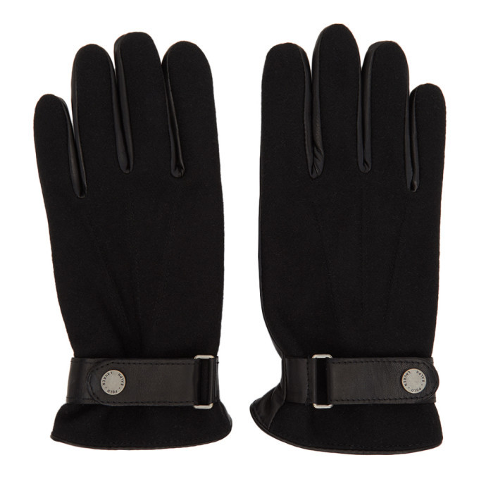 Photo: Polo Ralph Lauren Black Hybrid Touch Gloves