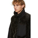 Sacai Green and Black Leopard Faux-Fur Blouson Jacket