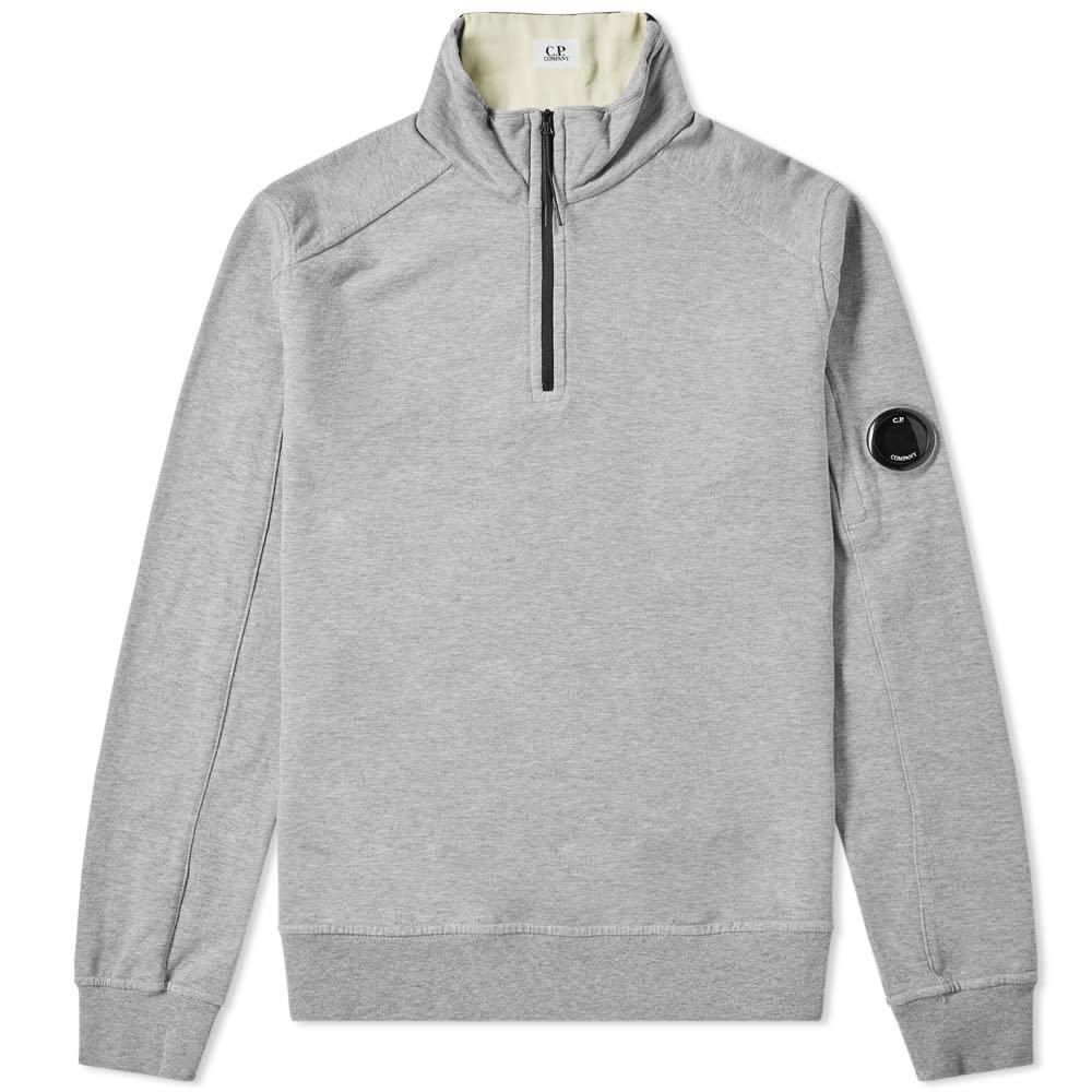 C.P. Company Light Fleece Arm Lens Quarter Zip Sweat