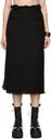 Sacai Black Tweed Skirt