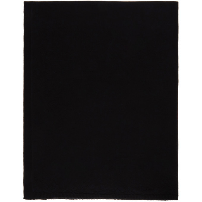 Photo: Rick Owens Black Knit Wool Scarf