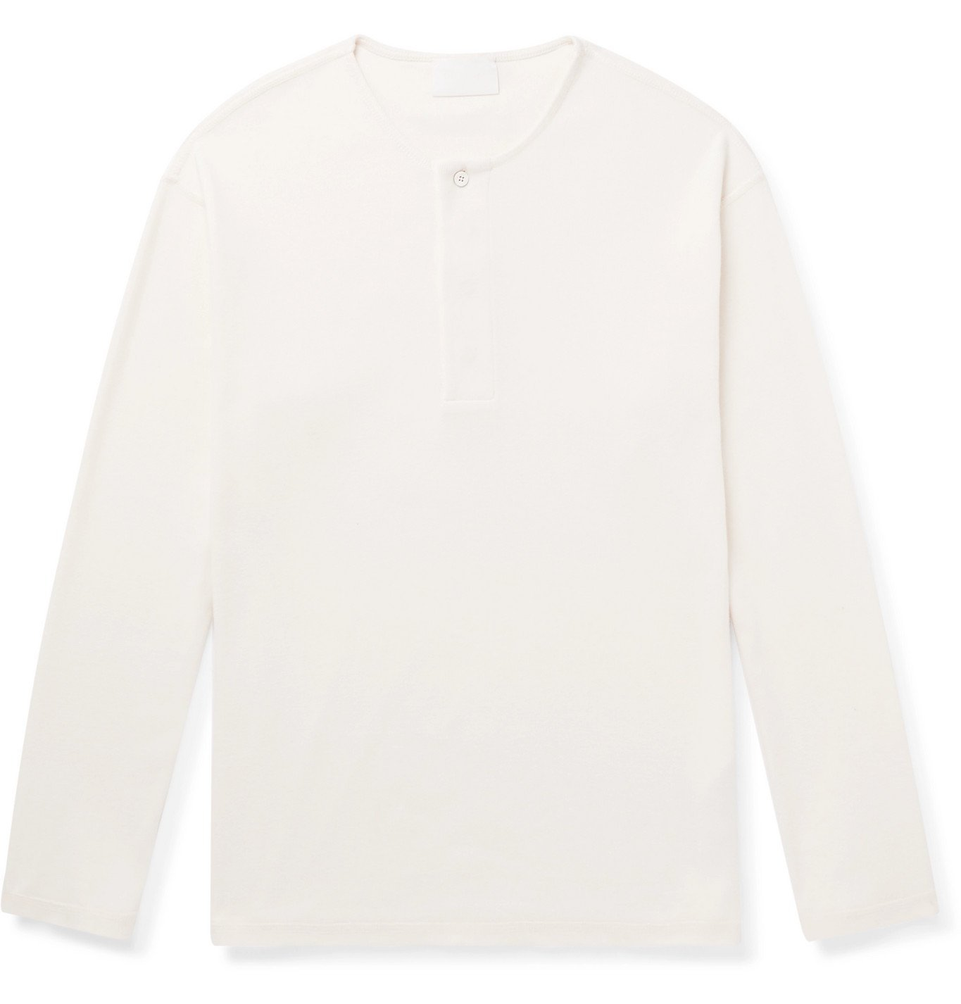 Photo: Fear of God for Ermenegildo Zegna - Ribbed Cotton Henley T-Shirt - Neutrals