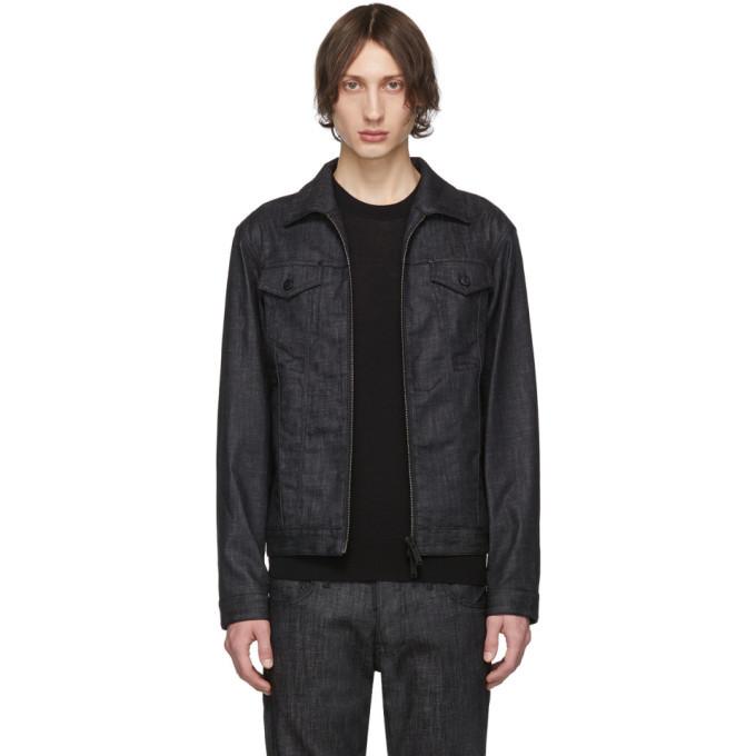 Photo: Dsquared2 Black Denim Boxy Jacket