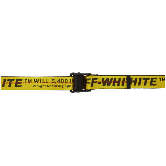 Photo: Off-White Yellow Classic Industrial Belt