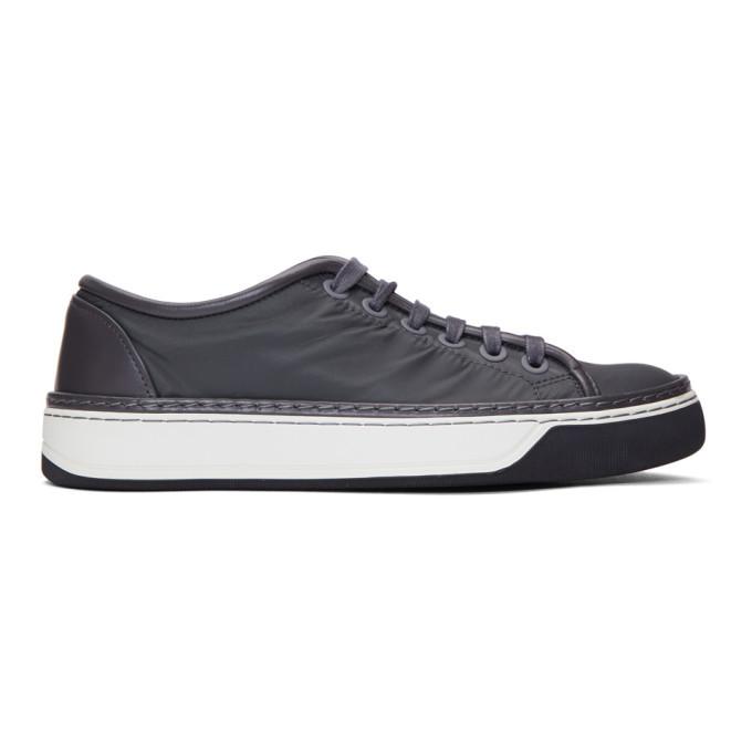 Photo: Lanvin Black Nylon Sneakers