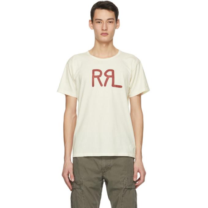 RRL Off-White Logo T-Shirt
