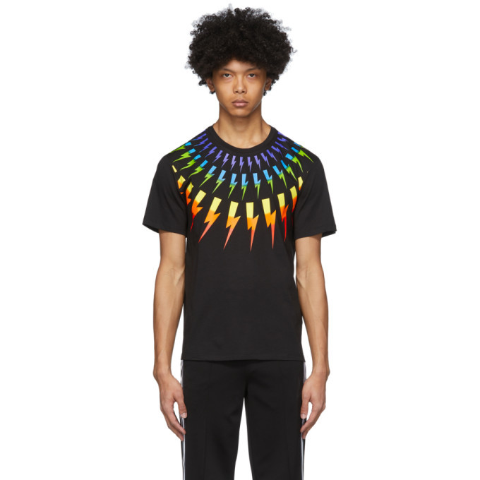 Photo: Neil Barrett Black Fair Isle Thunderbolt T-Shirt