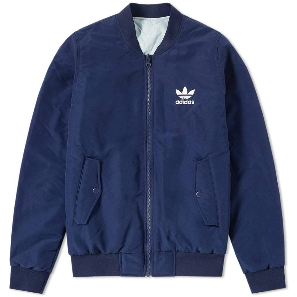 Adidas Reversible Pastel Camo Bomber Jacket Blue
