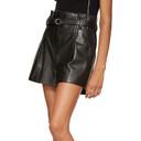 3.1 Phillip Lim Black Leather Origami Shorts