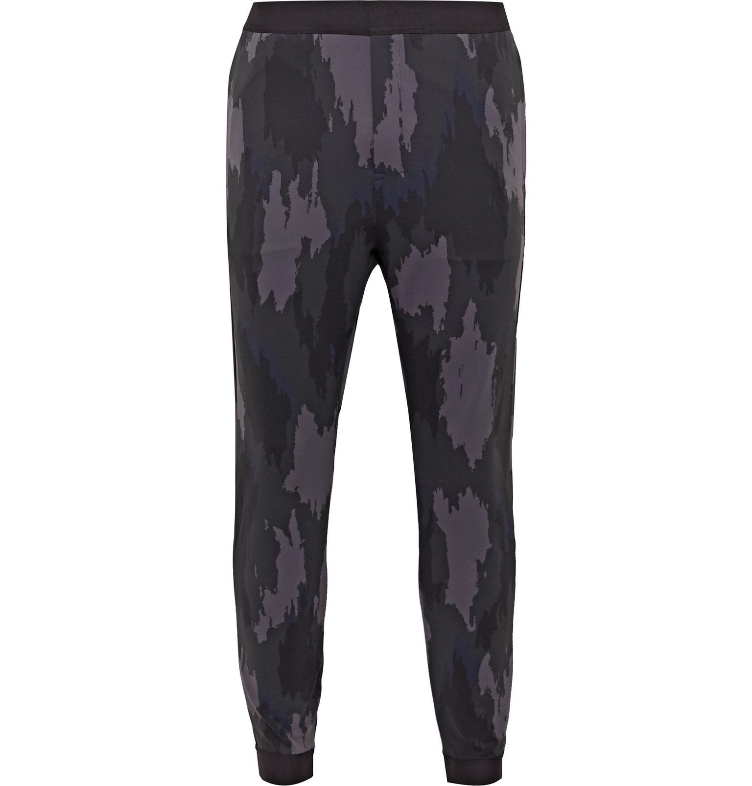 Photo: Lululemon - Robert Geller Take the Moment Slim-Fit Tapered Printed Full-On Luon Sweatpants - Gray