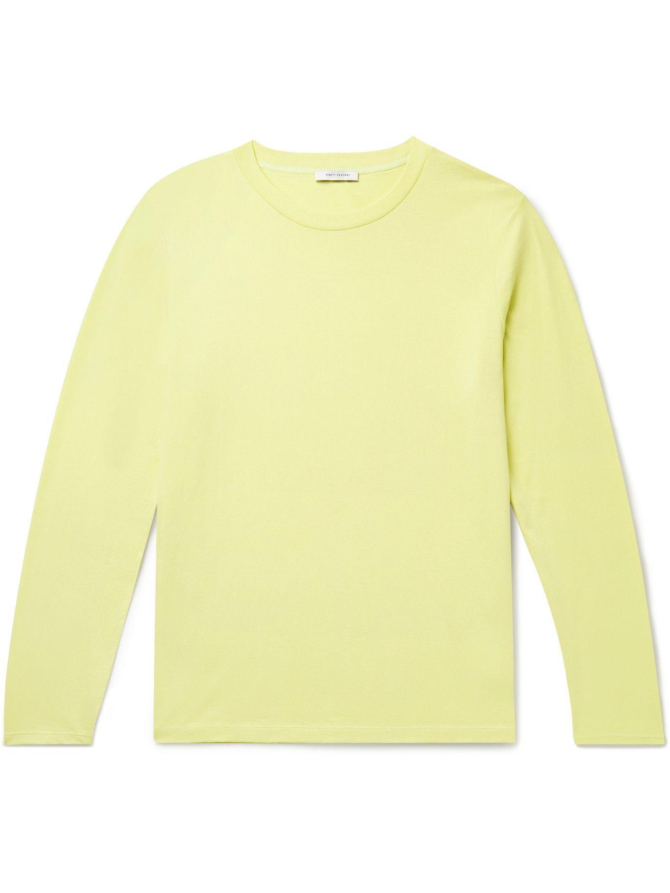 Photo: Ninety Percent - Organic Cotton-Jersey T-Shirt - Yellow