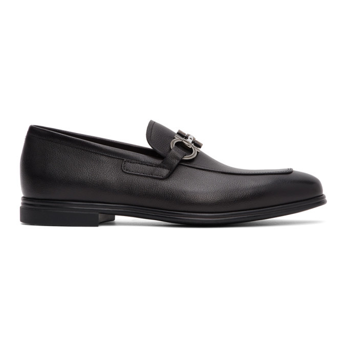 Photo: Salvatore Ferragamo Black Scarlet Loafers