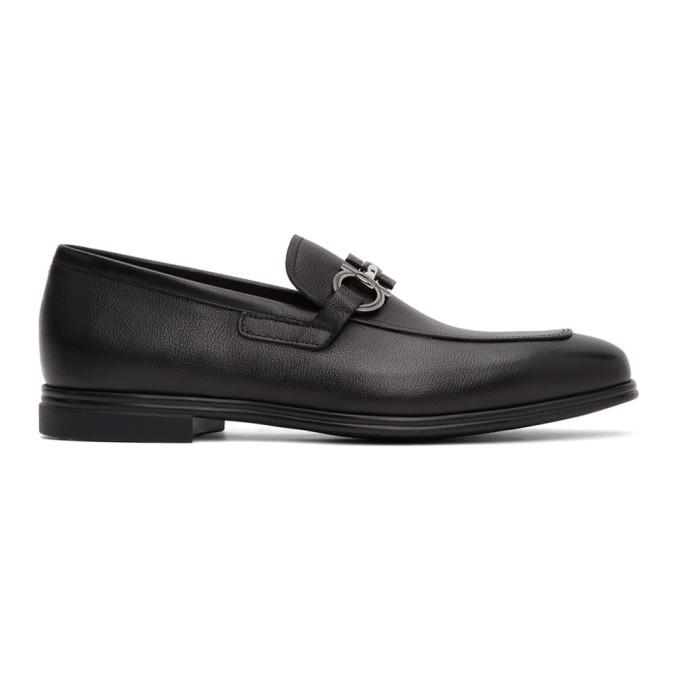 Photo: Salvatore Ferragamo Black Scarlet Loafers