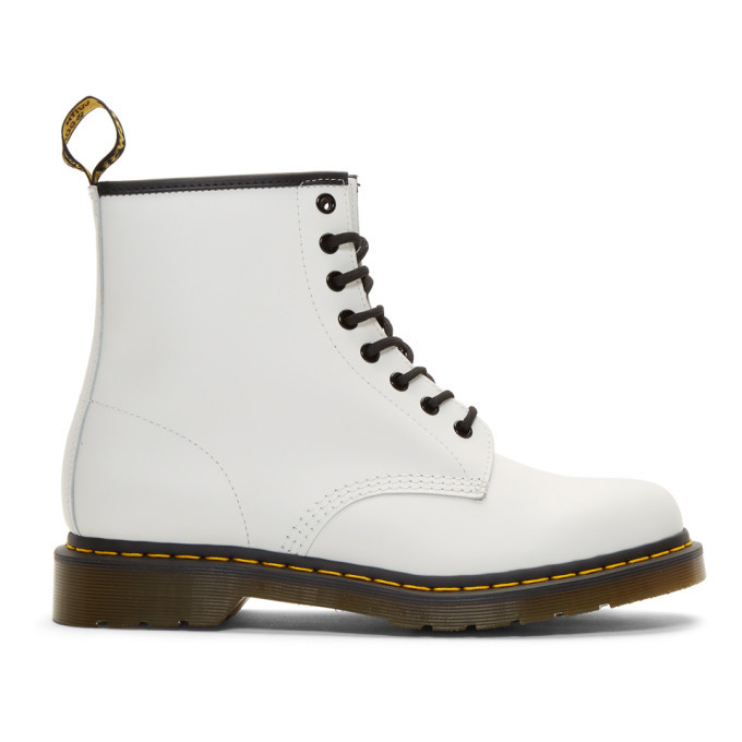 Photo: Dr. Martens White 1460 Boots
