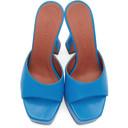 Amina Muaddi Blue Dalida Heeled Sandals
