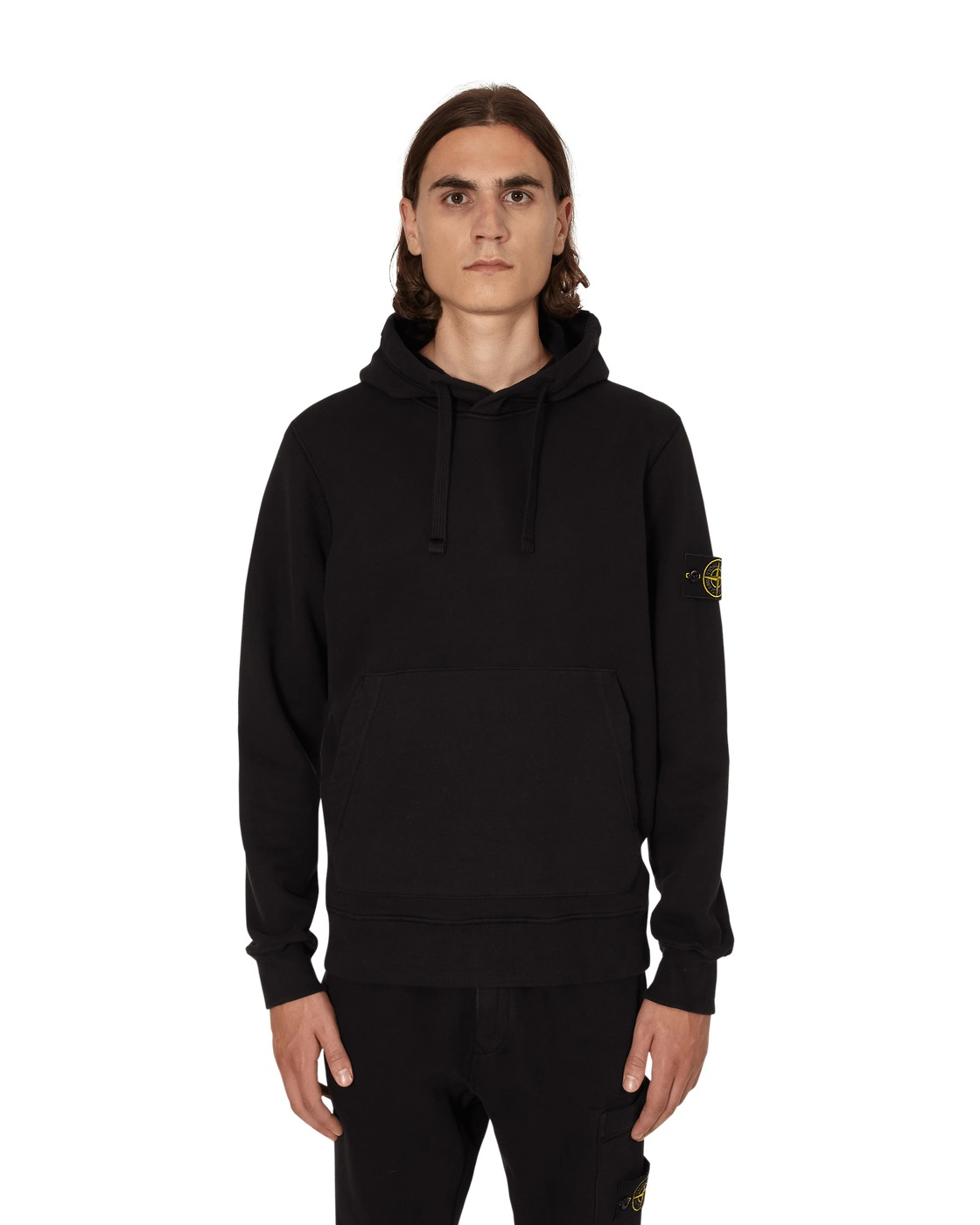 Photo: Stone Island Hooded Sweatshirt Black