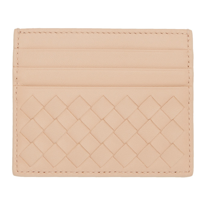 Bottega Veneta Beige Intrecciato Card Holder