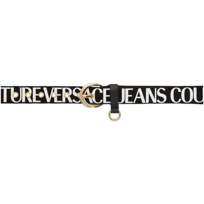 Versace Jeans Couture Black Logo Belt