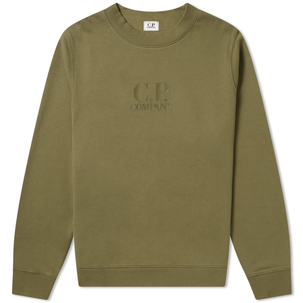 Photo: C.P. Company Laminated Logo Print Crew Sweat